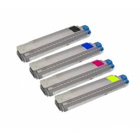 Pack 4 cartuchos toner reciclados Oki C8600 C8800 CMYK