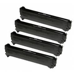 4 tambores reciclados para Oki c9600 c9650 c9800 c9850 cmyk