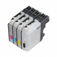 Para Brother lc123 lc125 4 cartuchos transparentes recargables sin chip