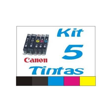 Maxi Kit Pro recarga cartuchos tinta Canon PGI-550 CLI-551 5 tintas