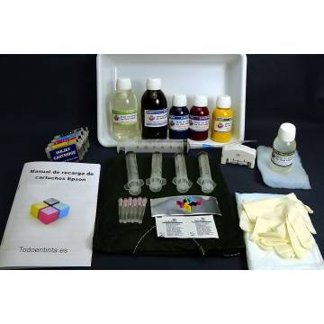Maxi kit pro recarga cartuchos 26 5 tintas