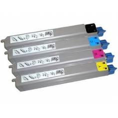4 cartuchos tóner reciclados para Oki c9650 c9850 cmyk 20k