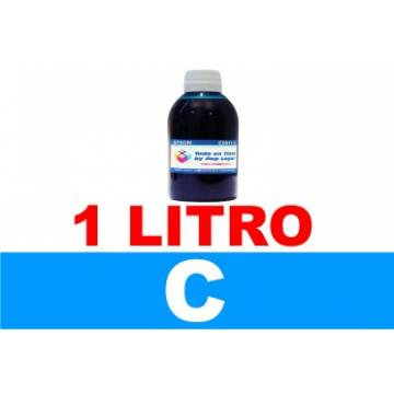 botella de litro de tinta colorante multiuso , color cian