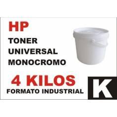 Hp toner monocromo universal formato industrial 4 Kg