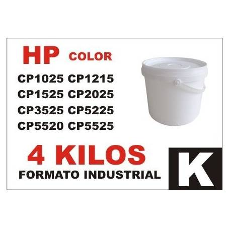 Hp toner series CP1000 - CP5000 NEGRO formato industrial 4 Kg
