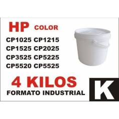Hp toner series CP1000 - CP5000 NEGRO formato industrial 4 Kg