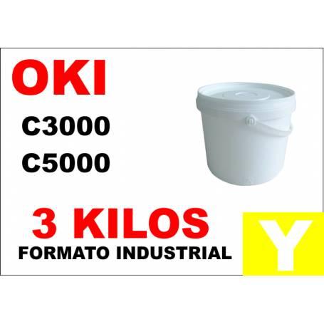Oki toner color C5000 C8000 C700 C800 AMARILLO formato industrial 3 Kg
