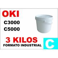 Oki toner color C5000 C8000 C700 C800 CIAN formato industrial 3 Kg