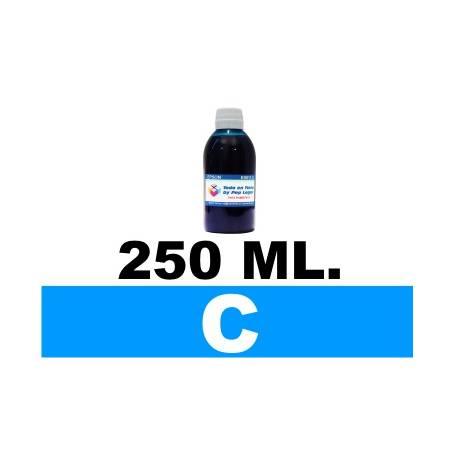 250 ml. tinta cian colorante para cartuchos HP