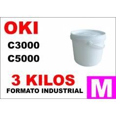 Oki toner color C5000 C8000 C700 C800 MAGENTA formato industrial 3 Kg