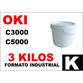 Oki toner color C5000 C8000 C700 C800 NEGRO formato industrial 3 Kg