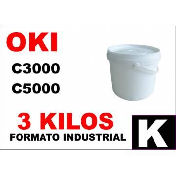 Oki tóner color c5000 c8000 c700 c800 negro formato industrial 3 kg
