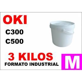 Oki toner color series C300 C500 MAGENTA formato industrial 3 Kg