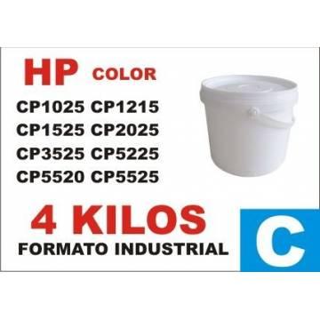 Para Hp tóner series cp1000 cp5000 cian cubo 4 kg