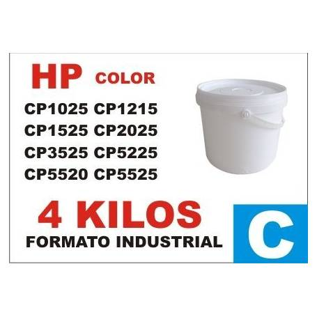 Hp toner series CP1000 - CP5000 CIAN formato industrial 4 Kg
