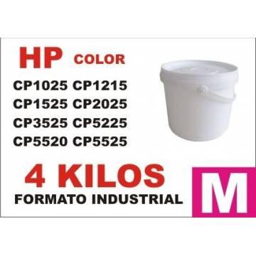 Para Hp tóner series cp1000 cp5000 magenta cubo 4 kg