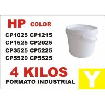 Para Hp tóner series cp1000 cp5000 amarillo cubo 4 kg