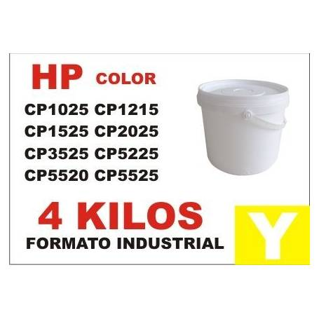 Hp toner series CP1000 - CP5000 AMARILLO formato industrial 4 Kg