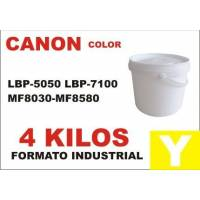 Canon toner series LBP CF AMARILLO formato industrial 4 Kg
