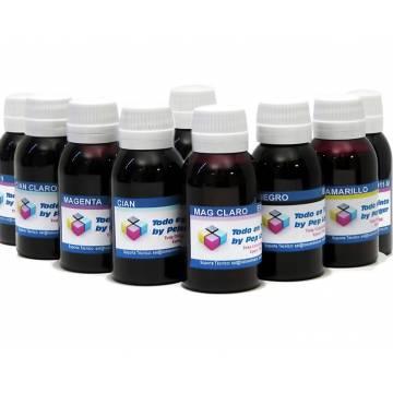 9 botellas 1 litro tinta pigmentada para plotter Epson k3