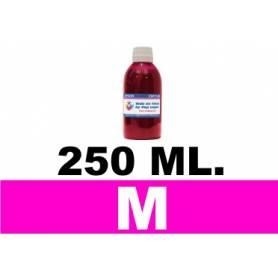 250 ml. tinta magenta colorante para cartuchos HP
