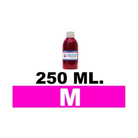 250 ml. tinta magenta colorante para cartuchos HP