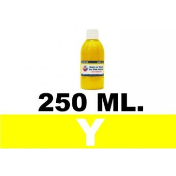 250 ml. tinta amarilla colorante para cartuchos para Hp