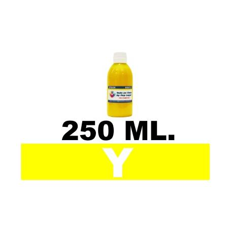 250 ml. tinta amarilla colorante para cartuchos HP