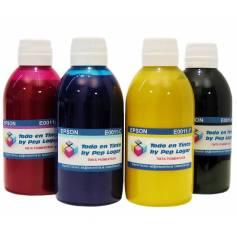 4 botellas de 250 ml. tinta pigmentada para Epson cmyk