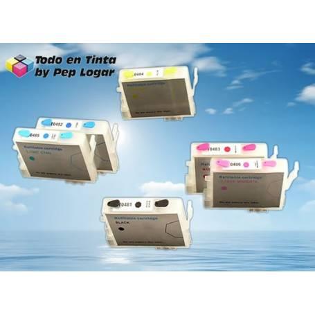 T0481 T0482 T0483 T0484 T0485 T0486 cartuchos recargables compatibles Epson