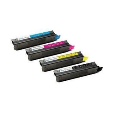 Negro reciclado Oki c3100 c3200 c5100n c5200n c5300 c5400 3k