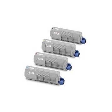 Magenta reciclado para Oki C610 N,C610 DN,C610 DTN.6K44315306