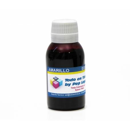 100 ml. tinta amarilla colorante para cartuchos Epson