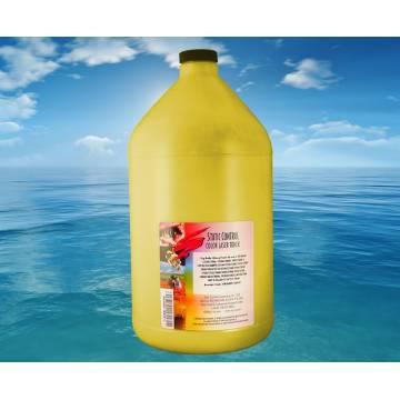 4 recargas botella de tóner amarillo brillo 1000 gr. para Oki es8430