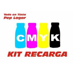 4 recargas de toner cmyk brillo de 250 gr. para Oki C810 Oki C830