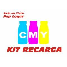 Para Oki c3300 c3400 c3450 c3600 6 recargas tóner premium 3 botellas cmy de 150 g. brillo