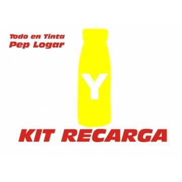 Para Oki c3100 c5100 c5200 c5300 c5540 c5400 c5450 2 recargas tóner amarillo brillo 190 gr.