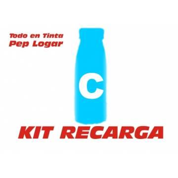 Para Oki c3100 c3200 c5100 c5150 c5200 c5250 c5300 c5510 c5540 c5400 c5450 2 recargas tóner cian brillo 190 gr.