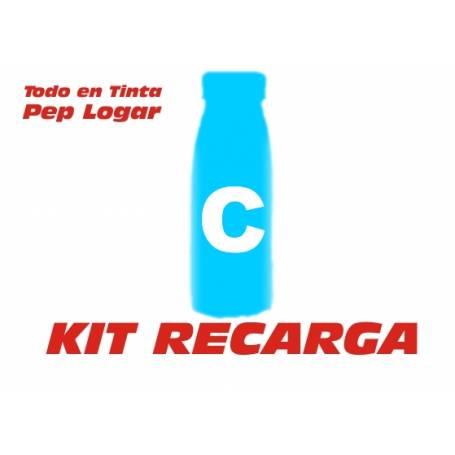 Oki C3100 C3200 C5100 C5150 C5200 C5250 C5300 C5510 C5540 C5400 C5450 2 recargas toner cian brillo 190 gr.