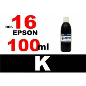 Epson 16, 16 XL botella 100 ml. tinta negra