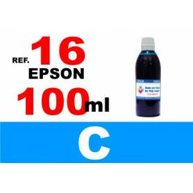Epson 16, 16 XL botella 100 ml. tinta cian