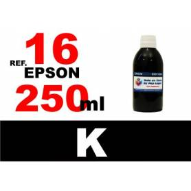 Epson 16, 16 XL botella 250 ml. tinta negra