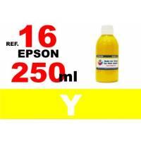 Epson 16, 16 XL botella 250 ml. tinta amarilla