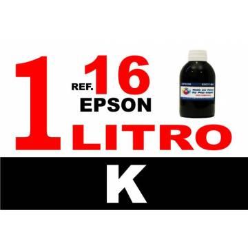 Para cartuchos Epson 16 16 xl botella 1 l tinta compatible negra
