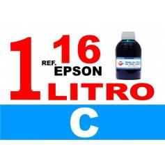 Epson 16, 16 XL botella 1 L tinta cian
