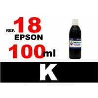 Epson 18, 18 XL botella 100 ml. tinta negra