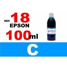 Epson 18, 18 XL botella 100 ml. tinta cian
