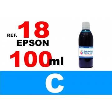 Para cartuchos Epson 18 18 xl botella 100 ml. tinta compatible cian
