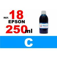 Epson 18, 18 XL botella 250 ml. tinta cian
