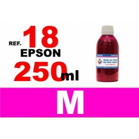 Epson 18, 18 XL botella 250 ml. tinta magenta
